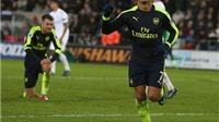 Vòng 21 Premier League: Thắng Swansea 4-0, Arsenal tạm thời trở lại Top 4