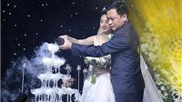 Hoa hậu Thu Ngân rạng ngời trong lễ cưới