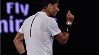 Nadal ăn mừng điên cuồng sau khi vào tứ kết Australian Open
