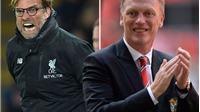 Sốc với thành tích của Juergen Klopp so với Man United của David Moyes