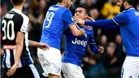 Vòng 27 Serie A: Inter thắng tưng bừng. Juventus bị cầm chân