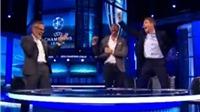 Steven Gerrard và trường quay bình luận nhảy cẫng vì chiến thắng của Barca