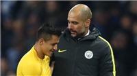 Guardiola: 'Các đội bóng sẽ theo sát Sanchez. Sanchez chỉ kém Messi 1 bậc'