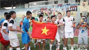 CHÙM ẢNH: U19 Việt Nam tự hào với cờ đỏ sao vàng