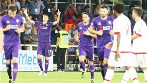 Fiorentina 2-0 AC Milan: Ely bị đuổi, 'Nesta mới' mắc sai lầm, Milan cả trận không sút nổi 1 quả