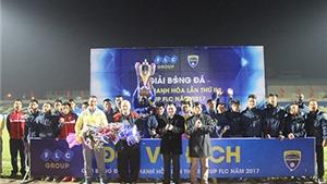 HLV vô địch Champions League có danh hiệu đầu tiên với FLC Thanh Hóa