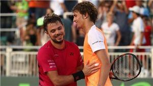 Tennis ngày 30/3: Zverev 'xin lỗi' Wawrinka. Nadal vào bán kết Miami Open, Nishikori thua sốc