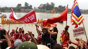 Giỗ tổ Hùng Vương 2017: Độc đáo lễ hội bơi chải truyền thống trên sông Lô