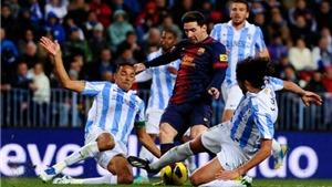 BIG BET: Dự đoán và tỉ lệ trận Malaga - Barcelona (Vòng 31 La Liga)