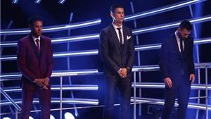 Ronaldo nhắc tên Messi và Neymar khi nhận giải Cầu thủ xuất sắc nhất thế giới