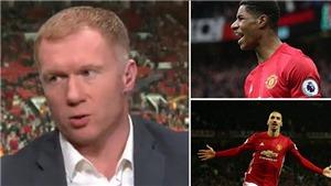Paul Scholes: 'Đá trận lớn, Man United hãy chọn Rashford, đừng chọn Ibra'