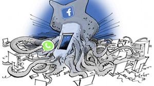 Báo Đức bị tố bài Do Thái với biếm họa Mark Zuckerberg của Facebook như bạch tuộc