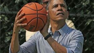 VIDEO: Xem tài nghệ chơi bóng rổ của Tổng thống Mỹ Barack Obama