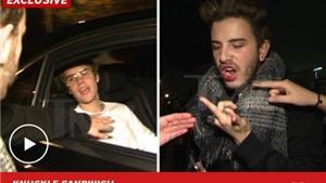 Justin Bieber đấm fan bật máu qua cửa ô tô
