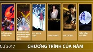 Hạng mục Chương trình của năm, Giải Âm nhạc Cống hiến lần 12-2017: Sự đa sắc của sân khấu biểu diễn