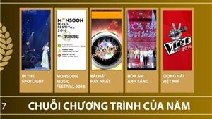 Hạng mục Chuỗi chương trình của năm, Giải Âm nhạc Cống hiến lần 12-2017: Xu thế và khai phóng
