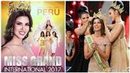 Người đẹp Peru đăng quang Hoa hậu Hòa bình Thế giới 2017
