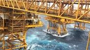 Bão số 9 đổ bộ vào Vũng Tàu, sóng cao 9 mét cuộn chân giàn khoan