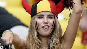 Mỹ nhân Bỉ được mời làm người mẫu nhờ tỏa sáng trên khán đài World Cup