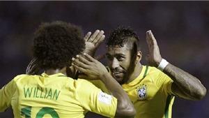 Uruguay 1-4 Brazil: Paulinho rực rỡ trong ngày Neymar tiếp tục cuộc chinh phục Nam Mỹ