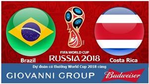 Dự đoán có thưởng World Cup 2018: Trận Brazil – Costa Rica