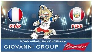 Dự đoán có thưởng World Cup 2018: Trận Pháp – Peru
