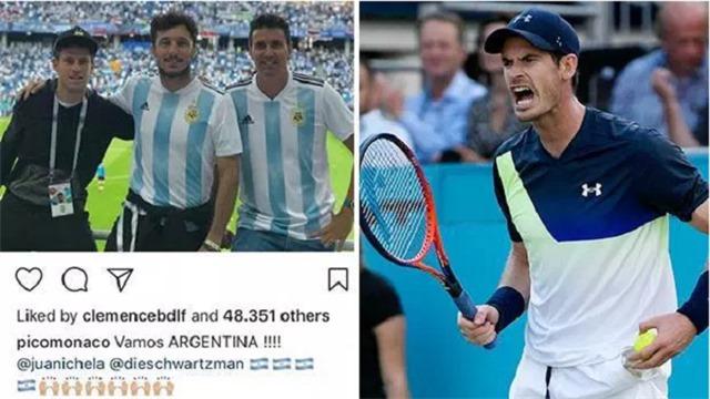 Andy Murray gây sốc vì chế nhạo đồng nghiệp sau trận thua của Argentina